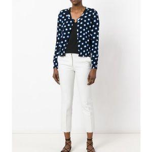 Boutique Moschino Spot Print Black & Blue Cardigan